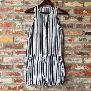 cd16f8a174c Stateside Tops - sleeveless Striped Gauze Striped Romper white blue